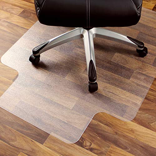 Cleartex Ultimat Chair Mat, Rectangular With Lip, Clear Polycarbonate, For Hard Floor, 48