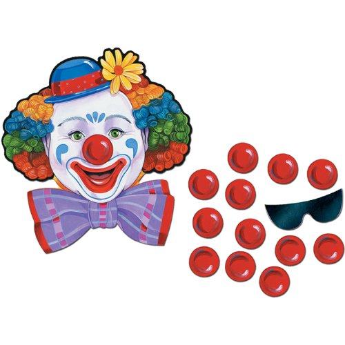 Beistle 66669 Circus Clown Game, 17.5 Inch by 16.5 -