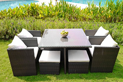 Weatherproof Since 1948 WEATHERPROOF Outdoor Patio 9-piece Furniture Dining Set, All-Weather Wicker -  - patio-furniture, dining-sets-patio-funiture, patio - 51NUthFdQUL -