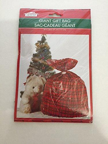 Greenbrier christmas plaid house giant gift bag