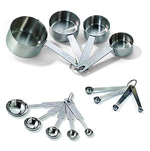 TableCraft H726 Bakers Dozen Measuring Set Includes Measuring Spoons, Measuring Cups and Spice Spoons