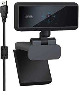 Webcam 1080P with Microphone, USB Desktop Laptop Camera, Mini Plug and Play Video Calling Computer Camera, Built-in Mic, Flexible Rotatable Clip
