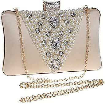 Elegant Ladies Hand beaded High-end Leather Evening Clutch Romantic European Style Party Banquet Wonderful Glitter Handbag Shoulder Bag