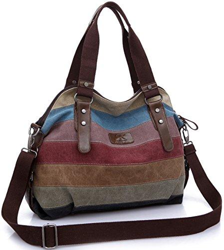 Tote Multi A Bag Canvas Multi FreeMaster Shoulder Color Color Handbag Color Women's Hobos Multi A q0EH1RF