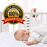 PlushDeluxe Mini Crib Mattress Protector