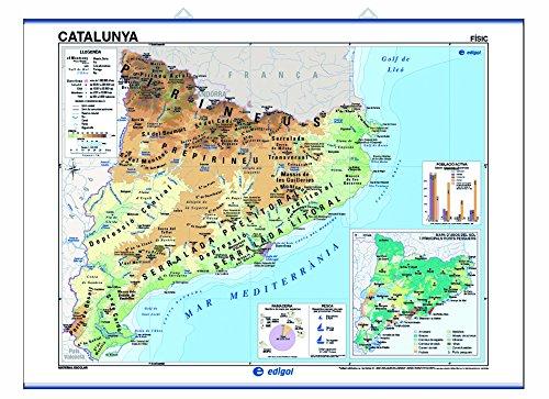 Catalunya, físico/político: Mapas Murales (): Amazon.es: Edigol ...