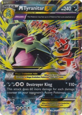 Pokemon - Mega-Tyranitar-EX (43/98) - Ancient Origins - Holo