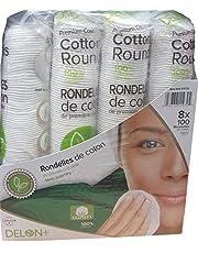 Cotton Delon + 100 % Cotton Rounds, 800 Count