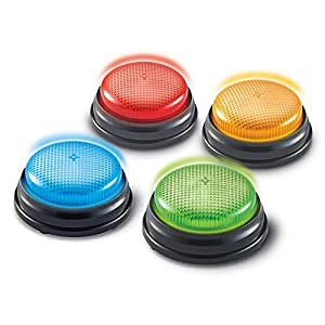 Learning Resources Lights and Sounds Buzzers, Set of 4
