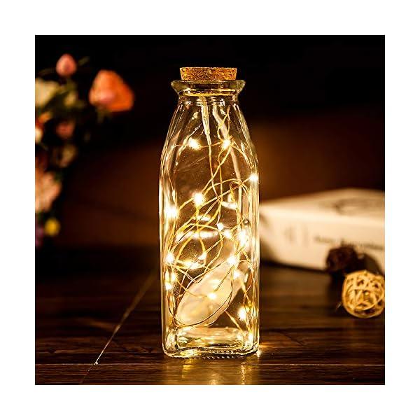 Stringa Luci LED Batteria, 2 Pacchi 4M 40 LEDs Catena Luminosa, Luci Natale Impermeabili per Natalizie Decorazioni Interni ed Esterni (Bianco Caldo) 3 spesavip