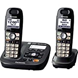 Best Cordless Phones For Seniors - Panasonic KX-TG6592T 2-Handsets Cordless Phone, Titanium Black Review