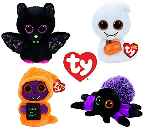 Ty Beanie Boos 2017 Halloween Collection: Creeper, Dart, Scream and (Halloween Beanies Collection)