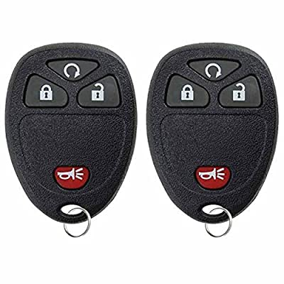 KeylessOption Keyless Entry Remote Control Car Key Fob Replacement For 15913421 (Pack of 2): Automotive