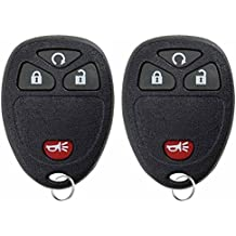 KeylessOption Keyless Entry Remote Control Car Key Fob Replacement For 15913421 (Pack of 2)