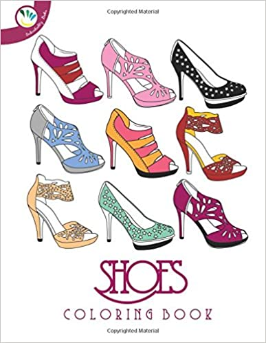 Shoes Coloring Book Paperback by Individuality Books (Author), Pamela Beltowski (Illustrator)