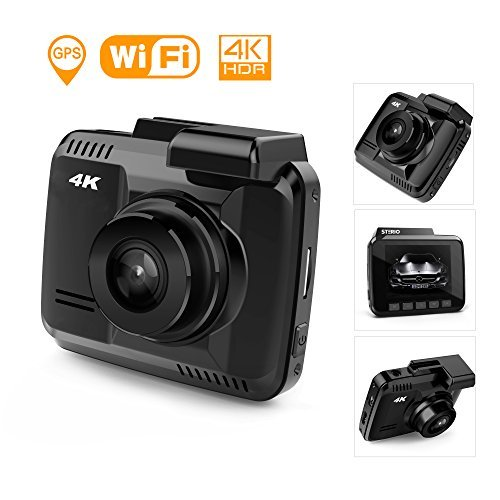 ": STERIO 4K 2880x2160/P24 Dash Cam with Wi-Fi, GPS, 170 Degree Ultra Wide Angle, 2.4"" LCD Dashboard Camera with G-Sensor, WDR, Loop Recording, Night Vision, Parking Mode, Motion Detection"
