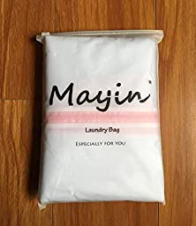 Mayin Set of 5 Mesh Laundry Bags - 1 XX-Large 1 Extra Large, 1 Large, 1 Medium, 1 Small - Premium Quality: Laundry Bag for Blouse, Hosiery, Stocking, Underwear, Bra and Lingerie, Travel Laundry Bag