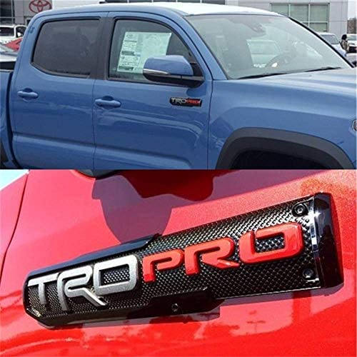 3D Original Stickers Door Badge Replacement for 2013-2018 1974 SR5 TRD PRO Nameplate 2Pcs OEM 14 inch TUNDRA Emblem Glossy black