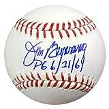 "JIM BUNNING AUTOGRAPHED OFFICIAL MLB BASEBALL PHILADELPHIA PHILLIES ""PG 6/21/64"" TRISTAR STOCK #56357"