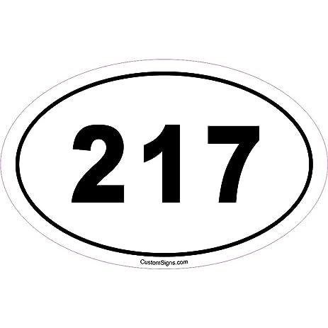 Amazoncom Area Code Bumper Sticker For Car Automotive - 217 area code