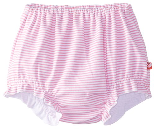 Zutano Baby Girls' Candy Stripe Bloomer, Hot Pink, 12 Months (Zutano Baby Dress)