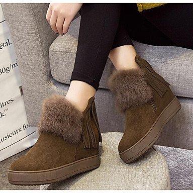 RTRY Zapatos de mujer cuero Nappa Moda Invierno botas botas planas botas de tacón botines/tobillo for casual caqui Negro Us7.5 / Ue38 / Uk5.5 / CN38 Black|US7.5 / EU38 / UK5.5 / CN38
