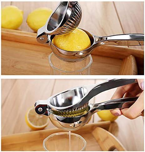YYR Edelstahl Lemon Squeezer, große manuelle Citrus und Kalk Press Juicer, mit Premium-Qualität Heavy Duty festes Metall Squeezer Bowl (2,75 Zoll Durchmesser)
