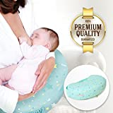 Nai-B Inflatable Nursing Pillow, Breastfeeding Support Cushion, Pregnancy Pillow, Designed for Newborn Babies and Moms (Mint)