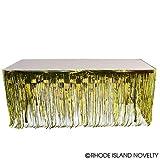 DollarItemDirect 144''X30''Gold Metallic Fringe Table Skirt, Case of 48