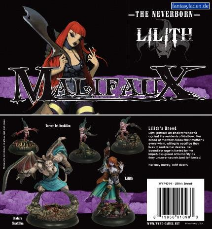 Malifaux Miniatures The Neverborn Lilith Lilith's Brood - Crew