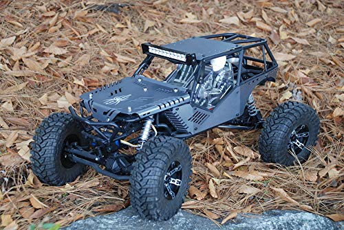 JK-WORKS New Upgrade Design Axial Wraith Aluminum Body Panel Kit (Anodizing - Gray Hard Color)
