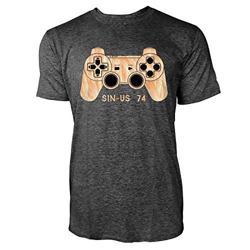 SINUS ART ® Game Controller Herren T-Shirts in dunkelgrau Fun Shirt mit tollen Aufdruck