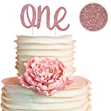 ONE Rose Gold Cake Topper for Daughters 1st Birthday Decorations for Girls! Make her day and cake special with a double sided rose gold cake topper on her bday! Princess and pictures are forever!