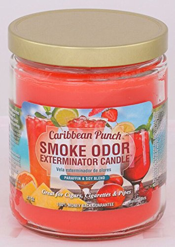 Smoke Odor Exterminator 13oz Jar Candle, Caribbean Punch ()