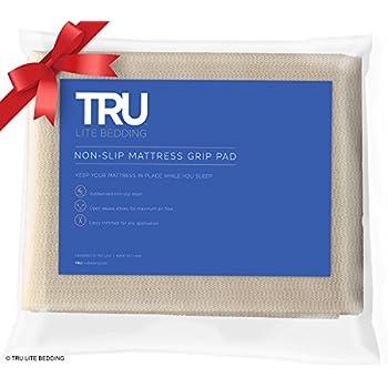 mattress gripper. tru lite bedding non slip mattress grip pad - keeps all types in place for gripper h