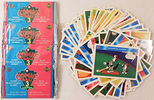 looney-tunes-comic-ball-series-3-trading-card-packs-4-count-50-loose-series-1-3-cards