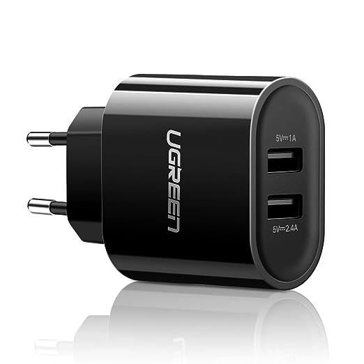 337 opinioni per UGREEN 2 Porte Caricabatterie USB da Muro Caricatore USB da Muro 17W 5V 3,4A USB