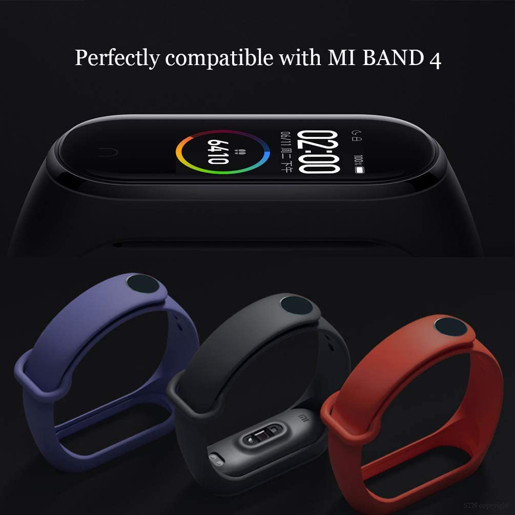 STN Original Xiaomi Mi Band 4 Pulsera Banda 15PCS Correas de Repuesto de Silicona para Xiaomi Mi Band 4 Smart Band NFC Correa de Pantalla a Color