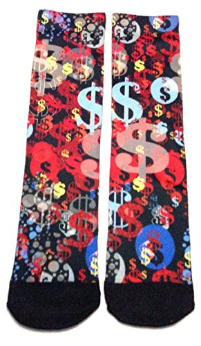 Money Sign Cash Symbol Currency All Over Print Crew Socks