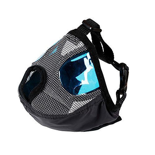 ZOOPOLR Anti Bark Bite Dog Muzzle with Adjustable Buckle- Dog Mouth Mask for Short Nose - Flat Faced Dogs (M) ()