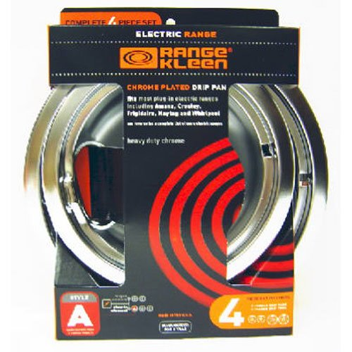Range Kleen 10124XN Drip Pans 4 Pack Containing 2 Units 101Am and (Chef Range)