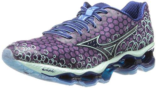 Mizuno Wave Prophecy 3 Running Shoe,Purple Passion/Blue Depths/Honeydew,6 B (Womens Prophecy Sport Shoe)