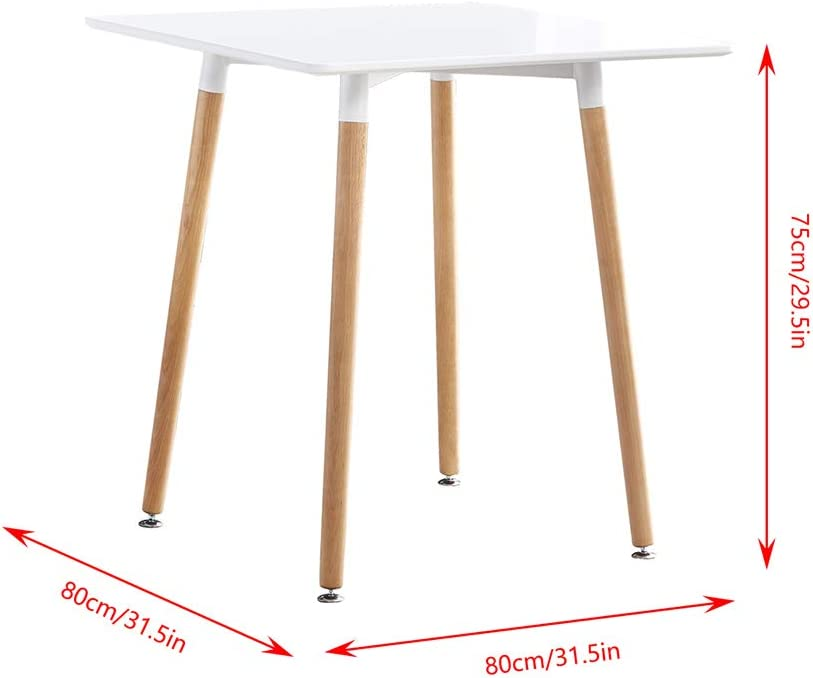 5 Pieces Kitchen White Wooden Dining Room Table and 4 Pink Velvet Chairs for Small Apartment Modern Office Conversational Waiting Room Set HomeSailing Small Space Dining Table and Chairs Set of 4
