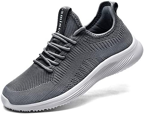 Lamincoa Women's Athletic Running Shoes Memory Foam Lightweight Slip On Tennis Walking Shoes Knit Mesh Breathable Casual Fashion Sneakers Size 5.5-10