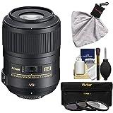 Nikon 85mm f/3.5 G VR AF-S DX ED Micro-Nikkor Lens with 3 UV/CPL/ND8 Filters Kit for D3200, D3300, D5300, D5500, D7100, D7200, D500, D750, D810 Camera
