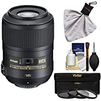 Nikon 85mm f/3.5 G VR AF-S DX ED Micro-Nikkor Lens with 3 UV/CPL/ND8 Filters Kit for D3200, D3300, D5300, D5500, D7100, D7200, D500, D750, D810 Camera