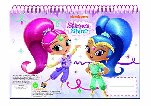 Giovas Giovas_334-45413 A4 Spiral Medium Cover Shimmer and Shine Sketch Book