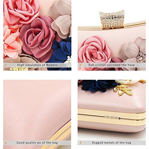 PARADOX (LABEL) Women Flower Clutches Evening Handbags Wedding Clutch Purse