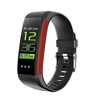 LJSHU Hombres y Mujeres Reloj Inteligente Impermeable Monitor de presión Arterial de frecuencia cardíaca Multifunción 20 Tipos de Deportes Modo Bluetooth ...
