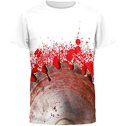 Halloween Bloody Saw Blade Massacre All Over Adult T-Shirt - -